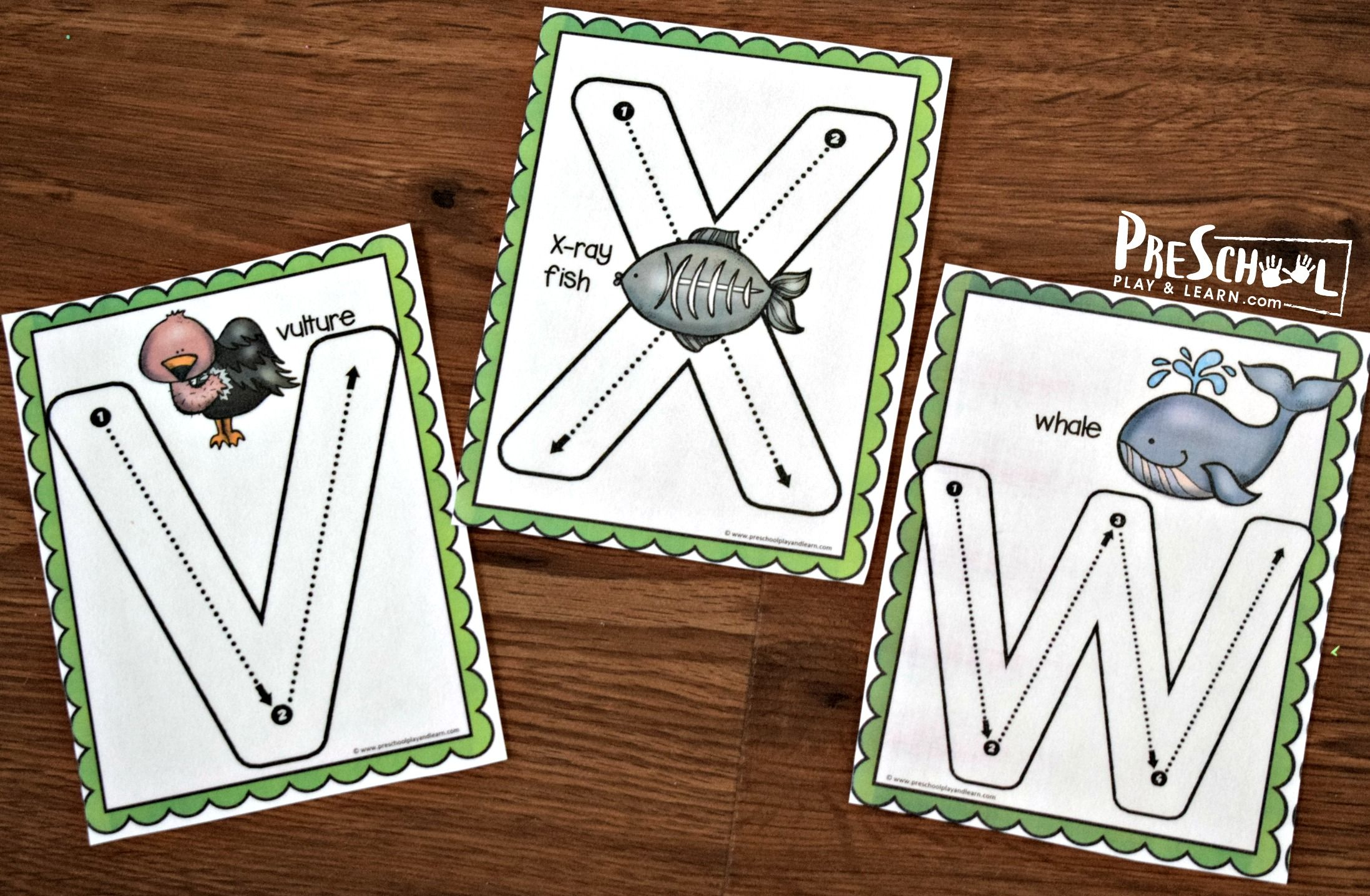 Uppercase Tracing Letters With Animals A Z