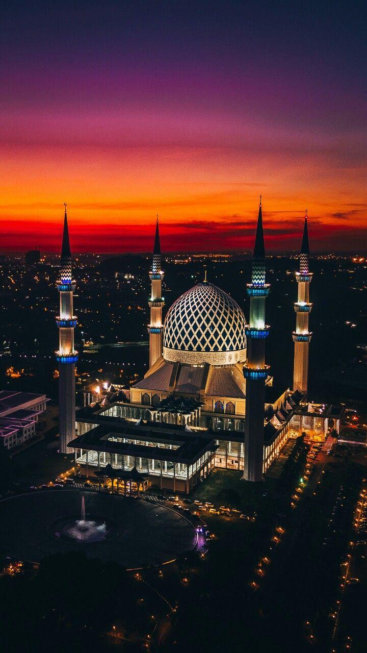 Masjid Sultan Salahuddin Abdul Aziz Shah Alam Malaysia Arsitektur Masjid Pemandangan Arsitektur India