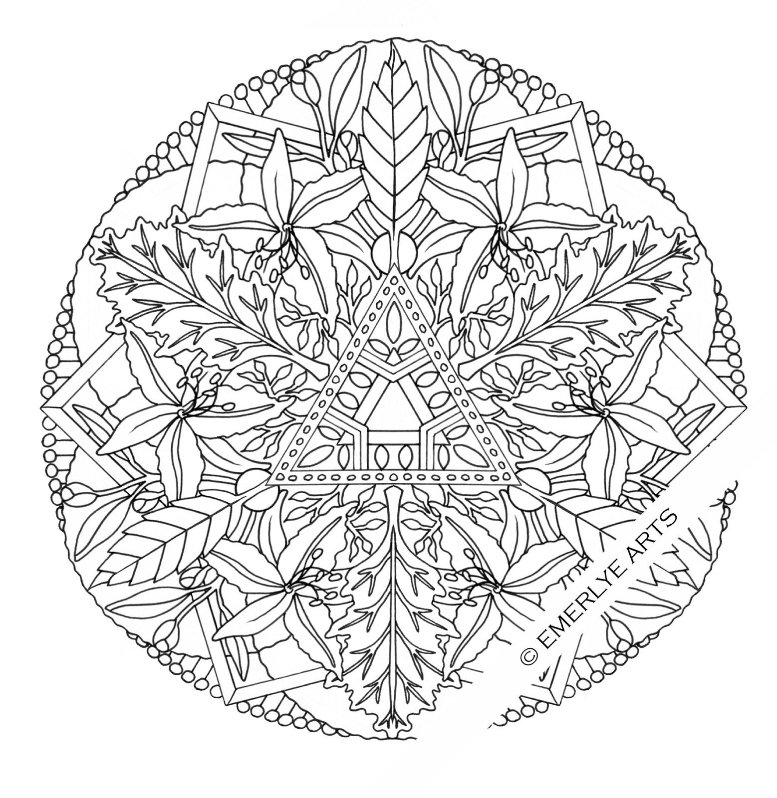 Detailed Coloring Pages For Adults | ... and kirigami ...Detailed Mandala Coloring Pages For Adults