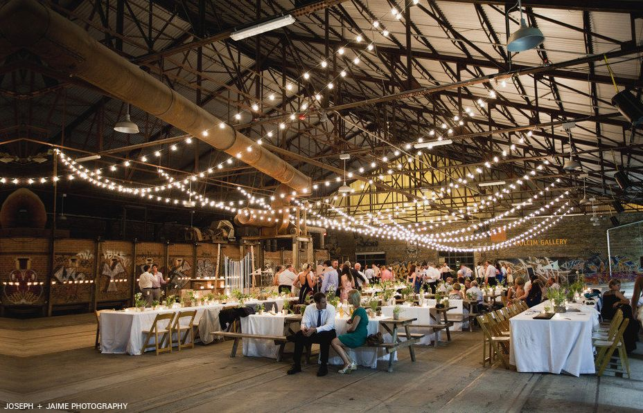 Beautiful Wedding Set Up In The Pavilion S At Evergreen Brick Works