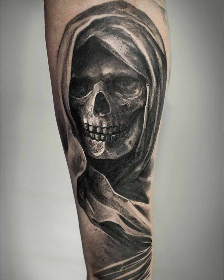 Death Tattoo Wicked Ink And Piercings Pinterest Tattoos Cool