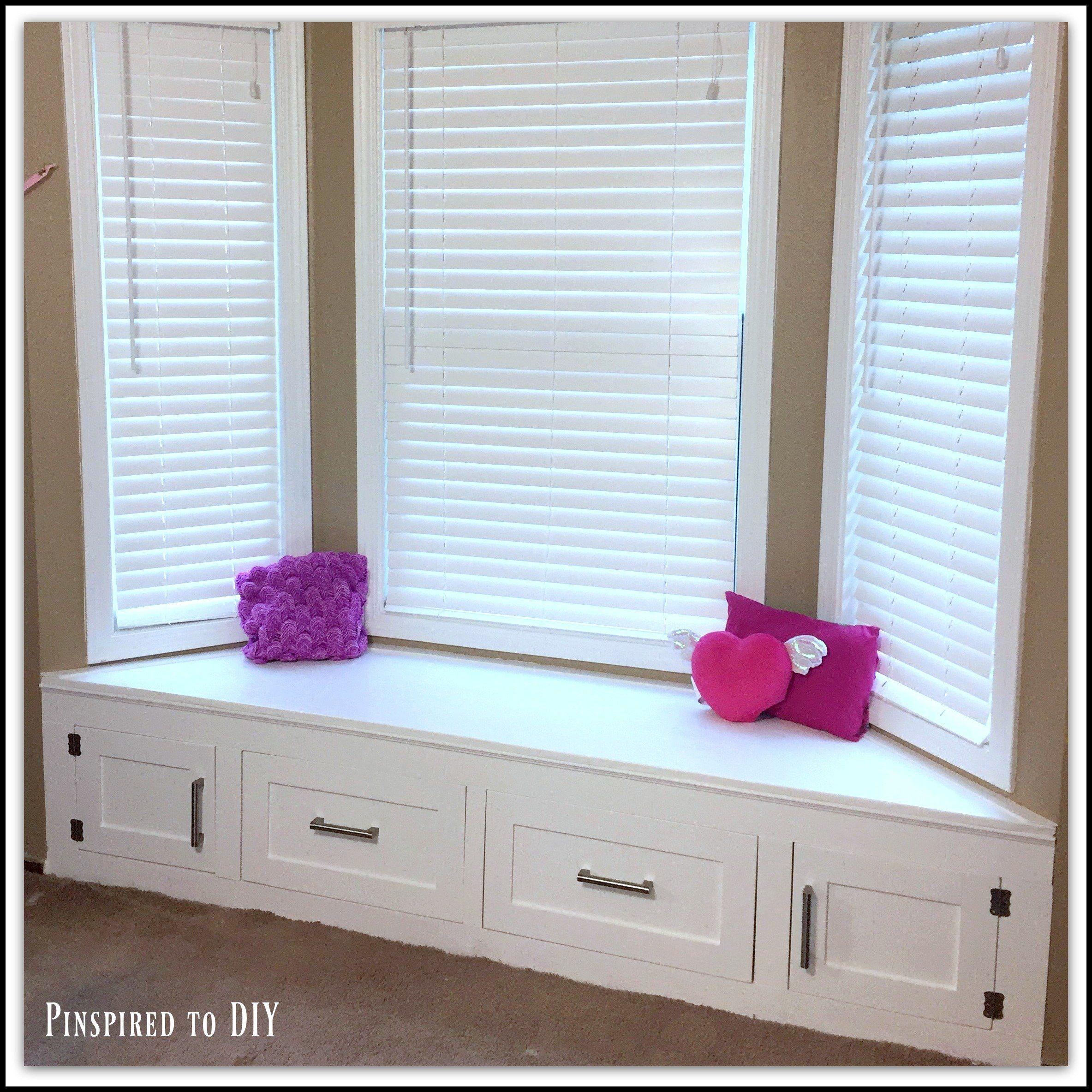 Diy builtin window seat with storage window seat