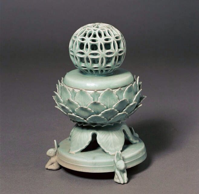 Antique: Traditional Chinese celadon censor