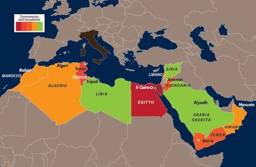 Cartina Geografica Italia Egitto.L Italia Gli Sbarchi E Gli Immigrati Istruzione Italia