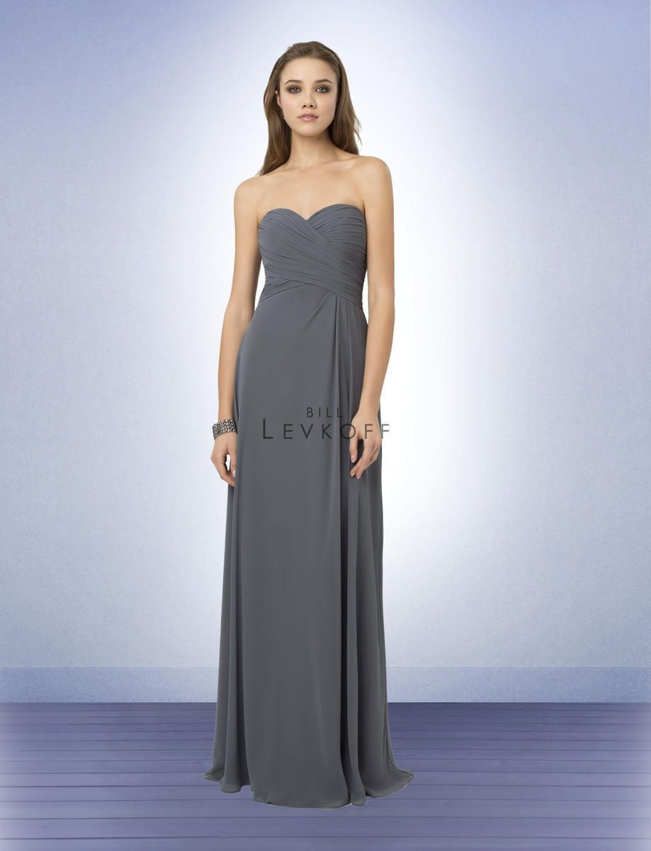 Cool awesome bill levkoff bridesmaid dress prom wedding chiffon