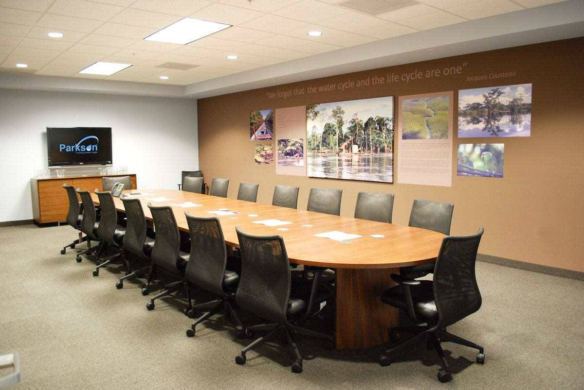 Impress Clients Especially When Hosting New Clients Your Office And Its Design Sets The Tone Conference Room Decor Meeting Room Design Conference Room Design