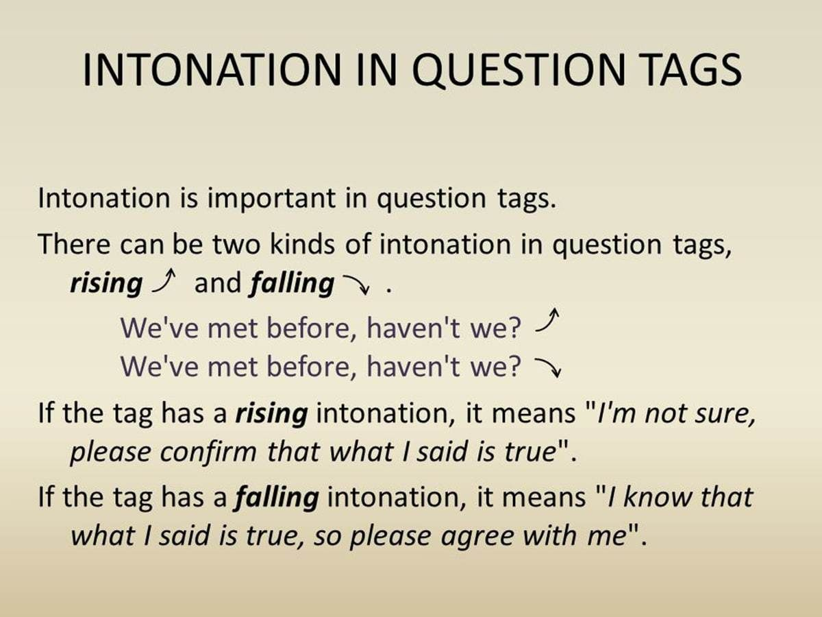 How To Form Question Tag In English