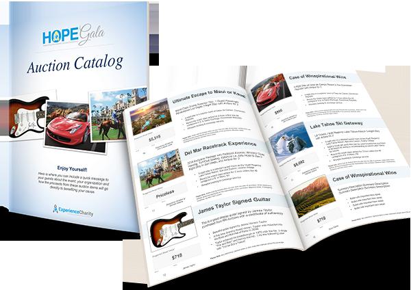 Charity Auction Catalog Template CCS Auction Ideas Pinterest - Auction brochure template
