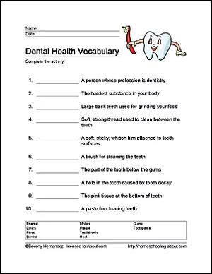 10 Arbeitsblätter, die Kindern die Grundlagen der Zahngesundheit beibringen   – kid things