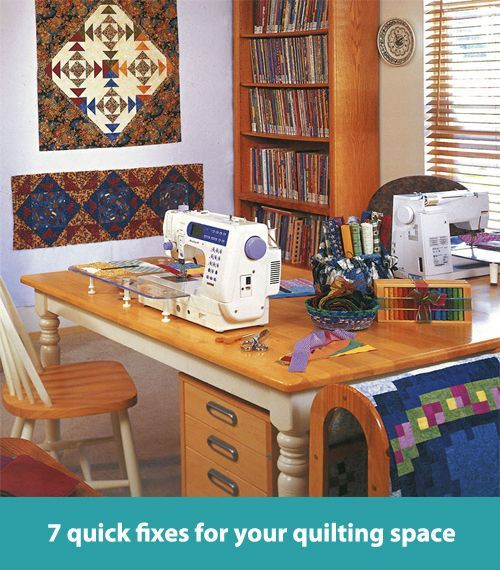 7 quick fixes for your quilting space. This is a GREAT guide ... : quilting room organization ideas - Adamdwight.com