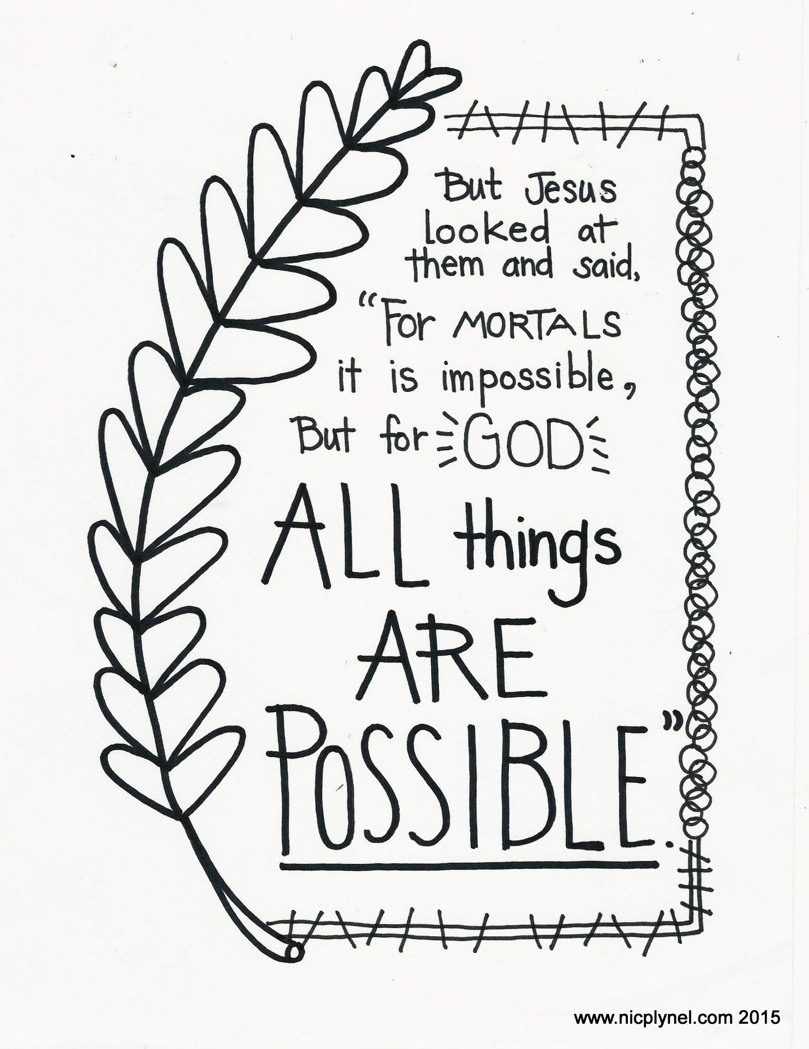 Coloring pages bible verses - Bible Verse Coloring Pages