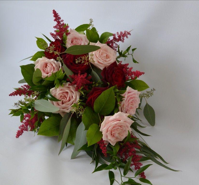 blush & burgundy bouquet