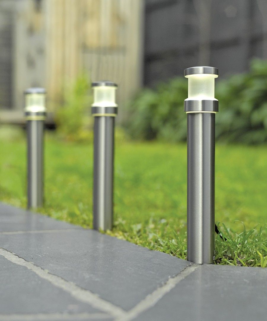 12v Led Bollard Garden Lamp Post Pathway Light 3w Ip44 Low Voltage
