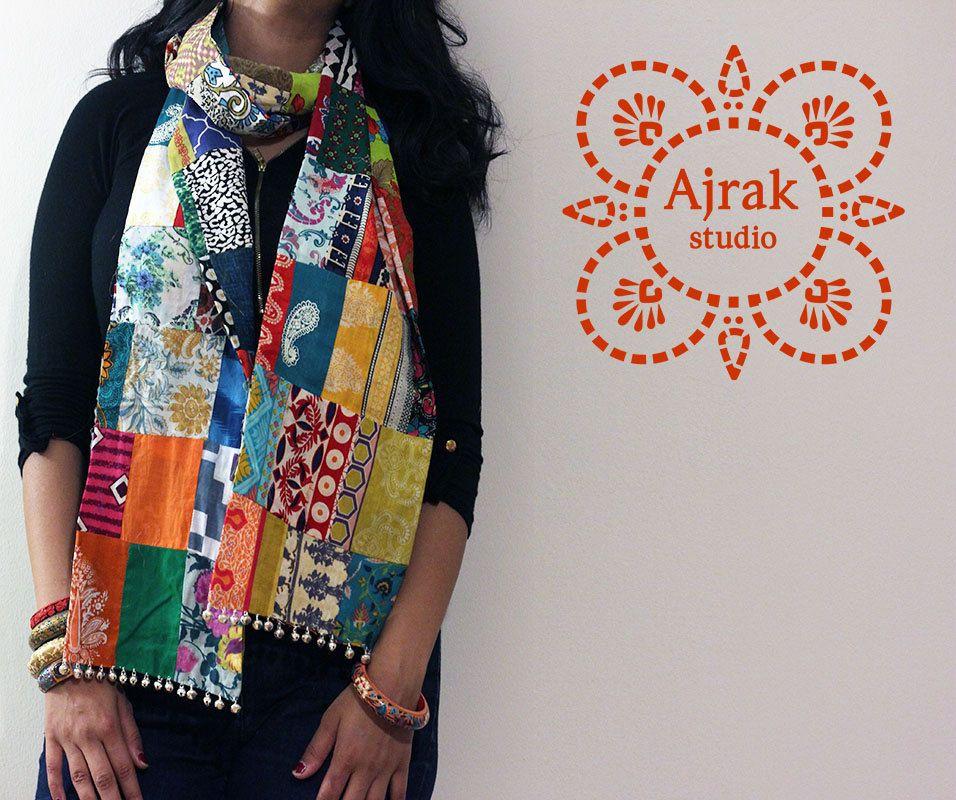 boho scarf patchwork scarf trendy scarf hipster scarf unisex