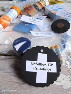 Naturdekoherz Notfallbox Zum 40 Geburtstag Bastelndies