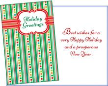 61039 six holiday general cards with six envelopes
