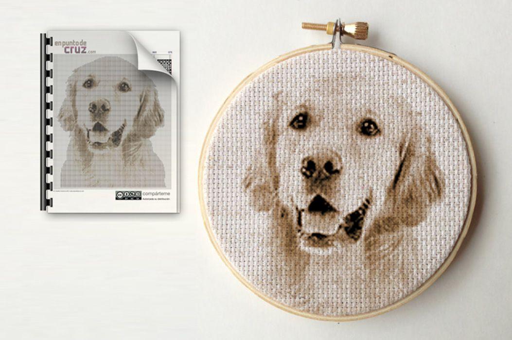 Foto punto de cruz gratis semanal: Perro   bordar   Pinterest ...