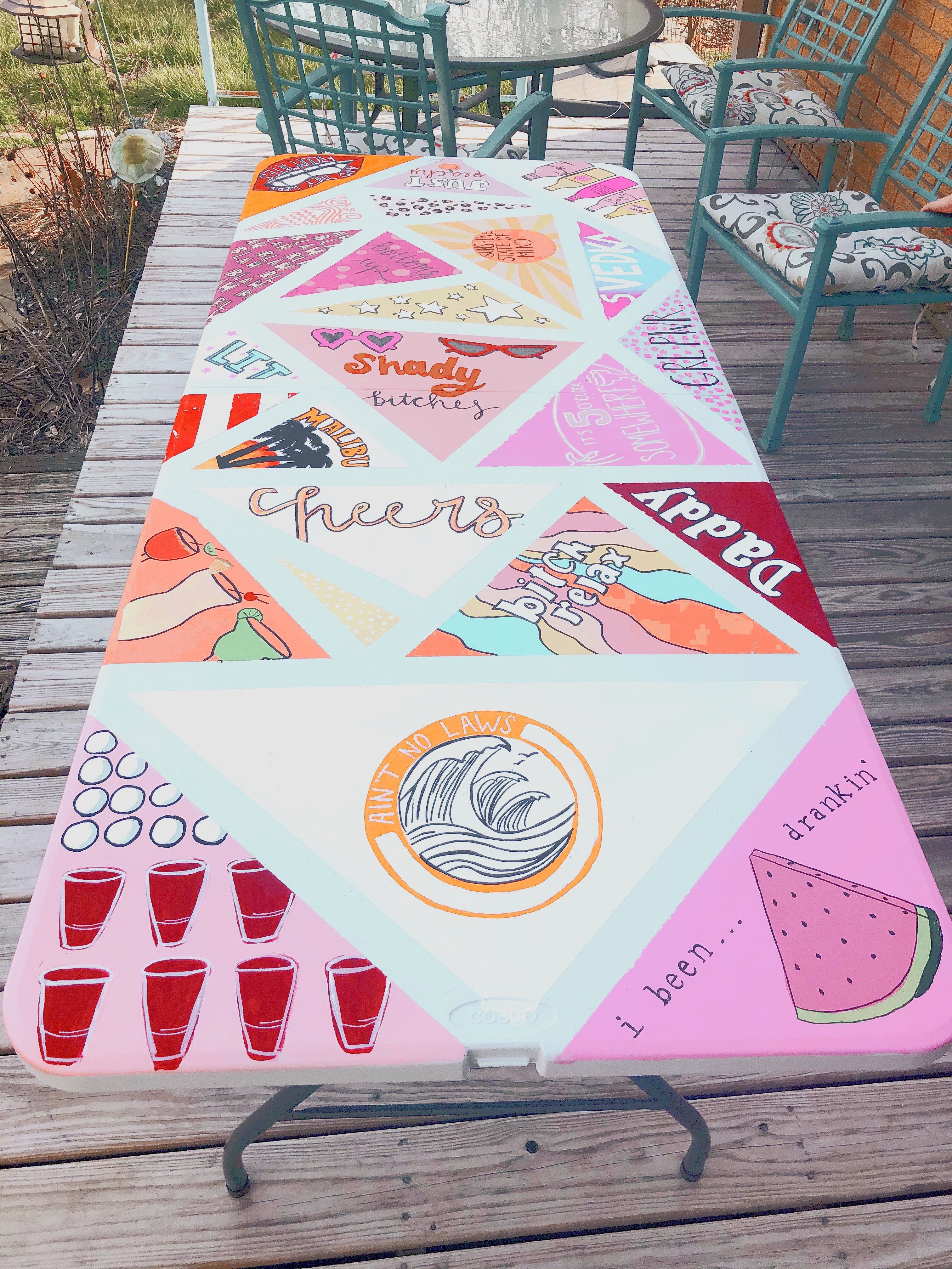 Painted Beer Pong Table VSCO: bayleycohen in 2020 | Beer