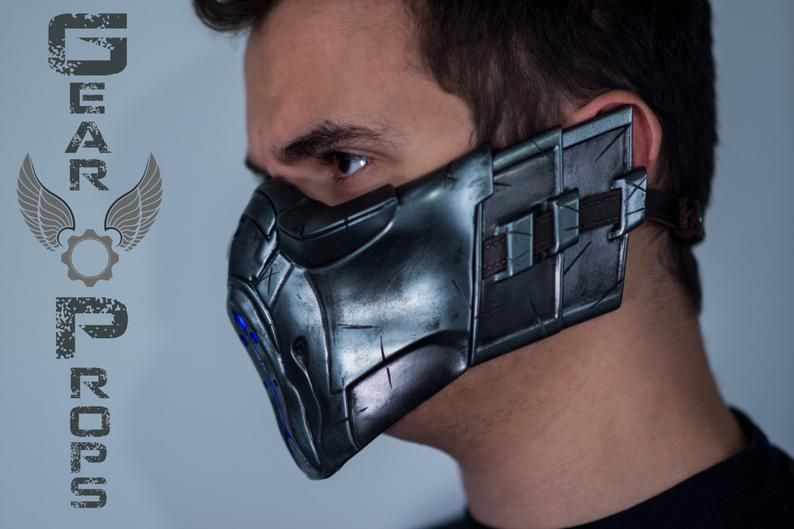 Sub Zero X Mask Mortal Kombat X Finished Piece Diy Kit Cosplay Gift Or Collectibles Mortal Kombat Mortal Kombat X Helmet Concept