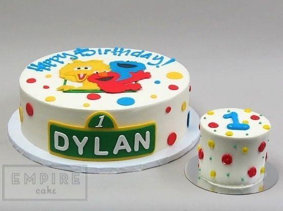 Sesame Street with Smash Cake Nicholass birthday Pinterest