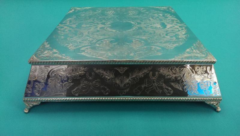 Silver Plated Square Cake Stand (StandA) & Silver Plated Square Cake Stand (StandA) | vintage silver ...