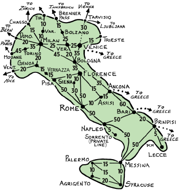 Rail Map Of Italy.What I Wish I Knew Before Traveling Italy By Train I T A L Y
