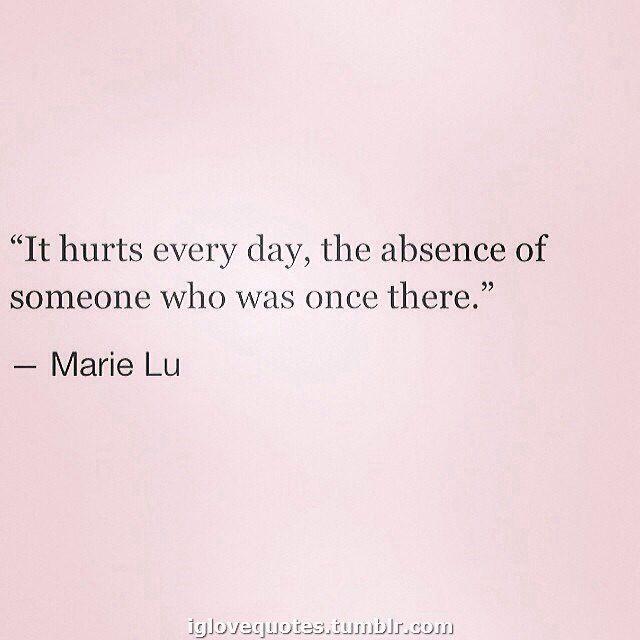 It hurts...
