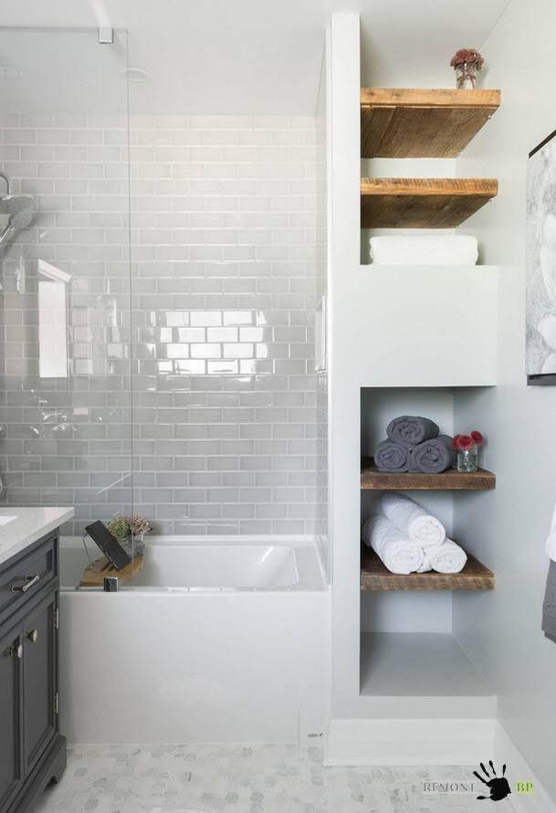 Badezimmer 5 und 6 m2  komfortable Einrichtung und