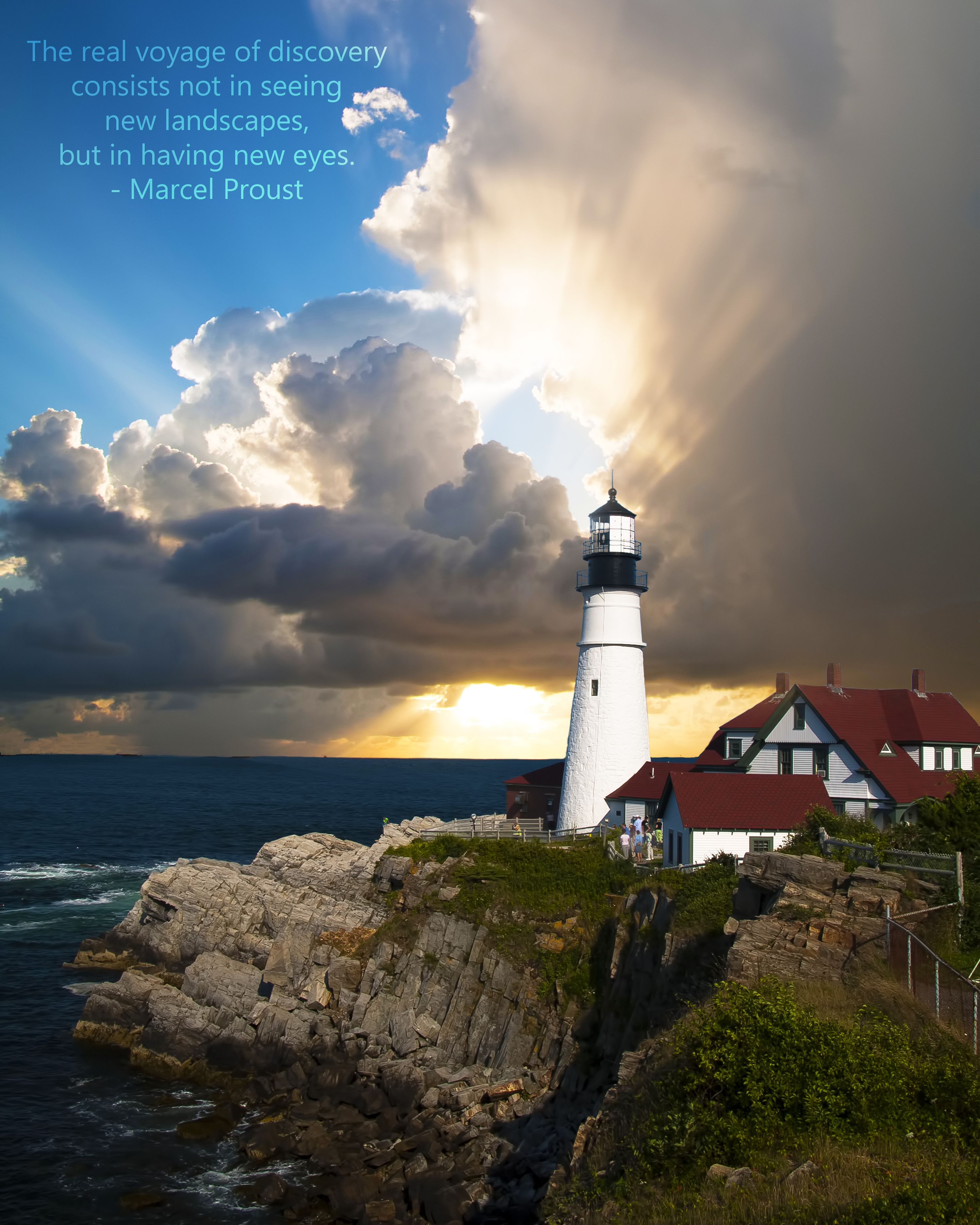 Quote By Marcel Proust Travel Quotes Lighthouse Lighthouse