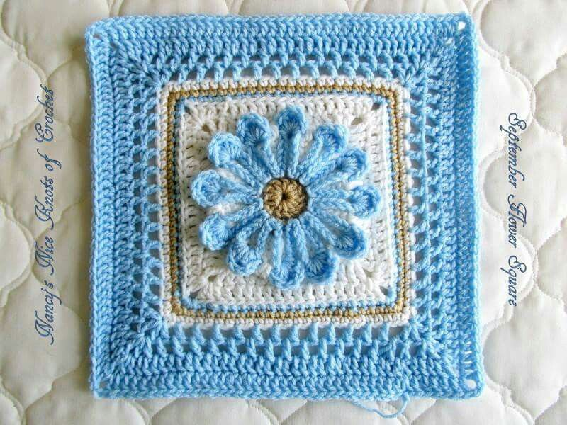 September Flower Square free Pattern on Ravelry.com