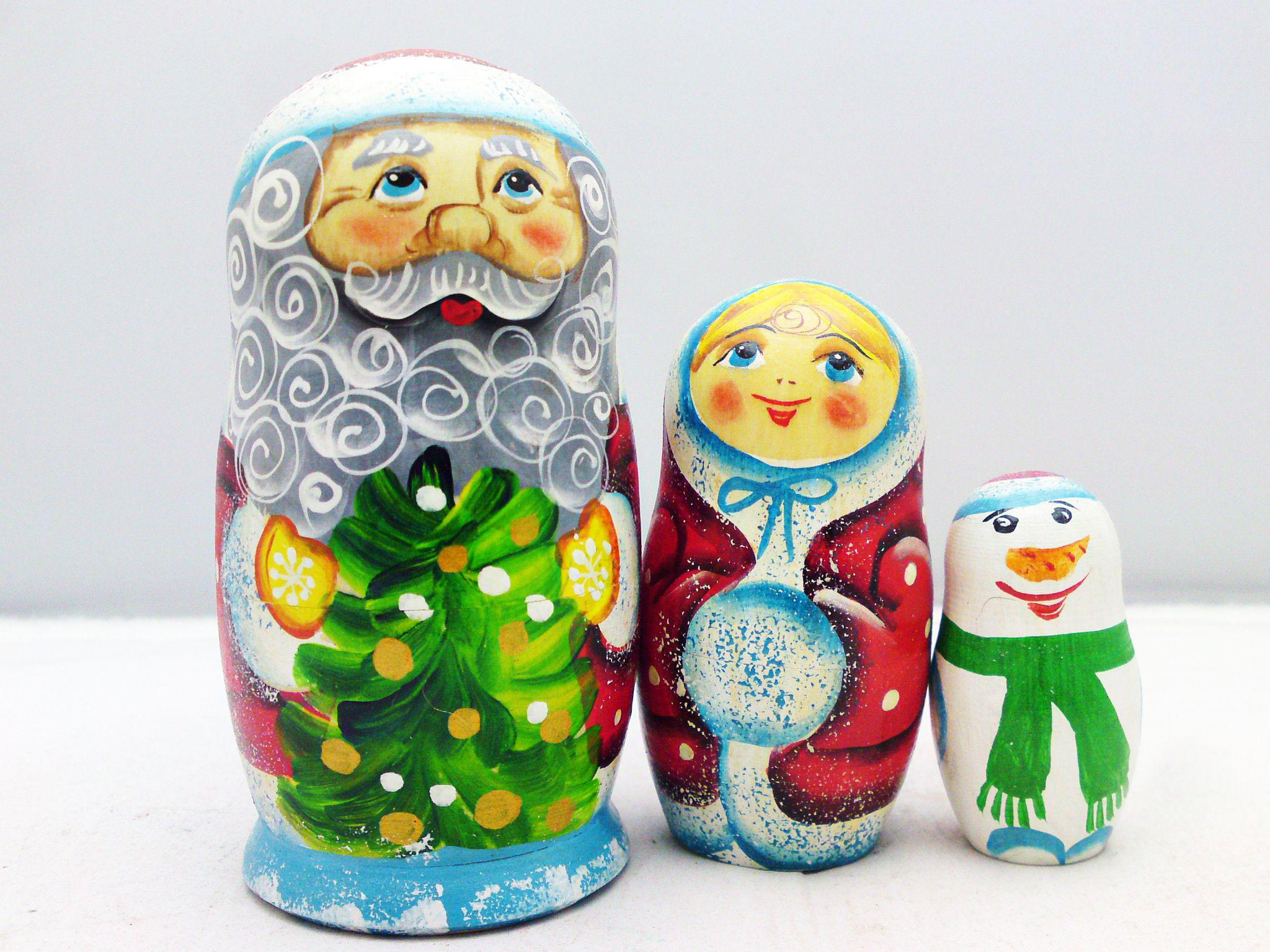 -MAtroesjka, Matroschka, MAtrjoschka, MAtriochka, MAtrioska, MAtrjosjka, Nesting Dolls Christmas - NAvidad Noël-Natal-Kerstmis-Weihnachten
