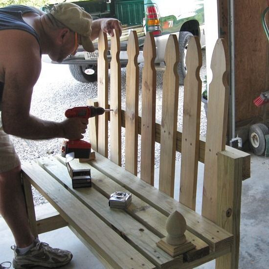 My Diy Picket Fence Bench A Lowes Creative Ideas Project