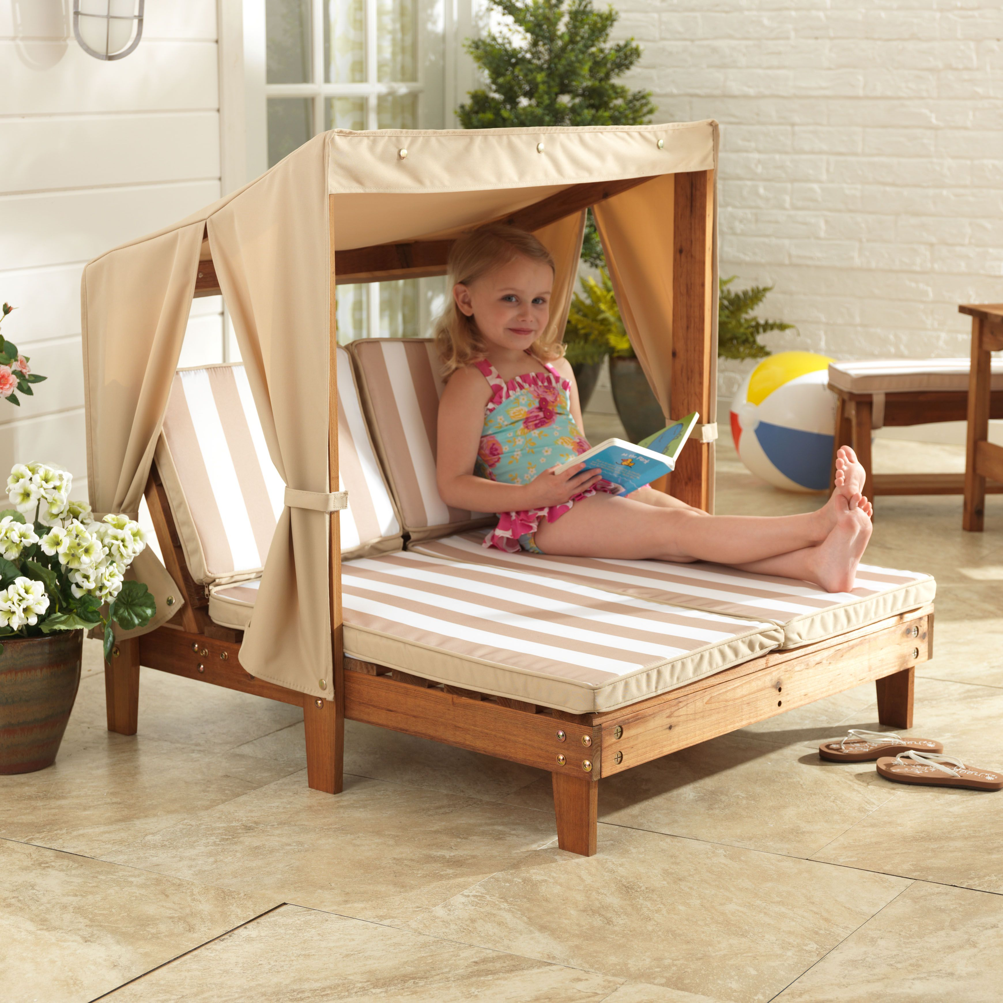 Double Chaise Lounge With Cup Holders Espresso Amp Oatmeal