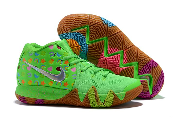 new concept 68d02 919da Nike Kyrie 4 Green Lucky Charms For Sale