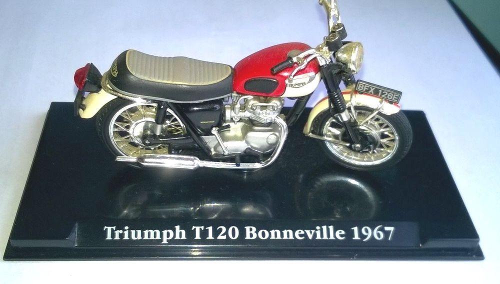 Atlas Editions 1967 Triumph Bonneville T120 Red White Very Good Boxed For Sale Online Ebay Triumph Bonneville Triumph Bonneville T120 Bonneville