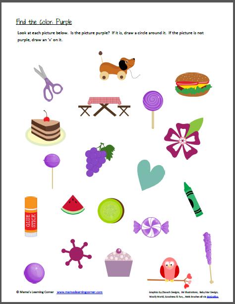 color recognition find the color purple colors preschool stuff preschool colors color purple. Black Bedroom Furniture Sets. Home Design Ideas