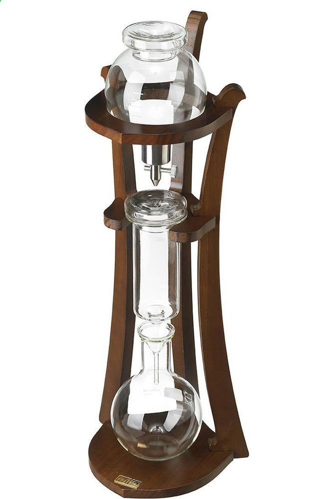 Wooden Water Drip Coffee Makers Ice Cold Brew Coffee Maker