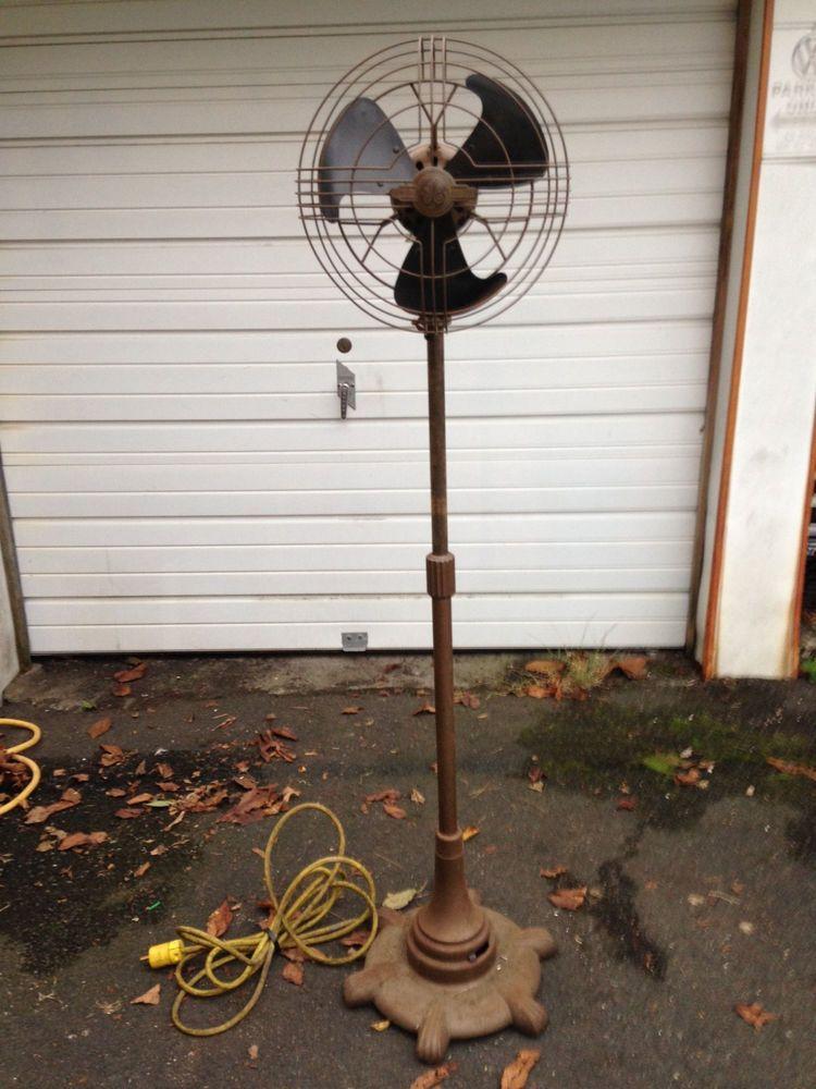 Antique Ge 12 Vortalex Oscillating Pedestal Floor Fan Floor Fan Fan Vintage Fans
