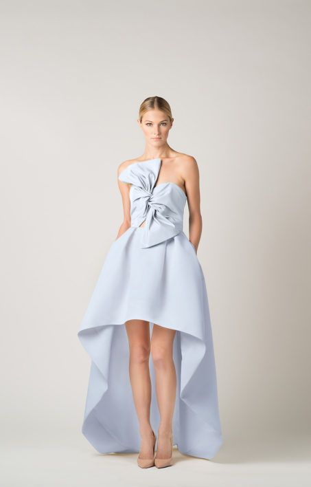 e96388576 Silk Faille Twisted Bow High Low Gown | Dress | High low gown, Gowns ...