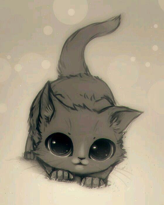 Cute Drawing Animals Cat Drawing Katze Zeichnen Niedlich Susse Tiere Zeichnen
