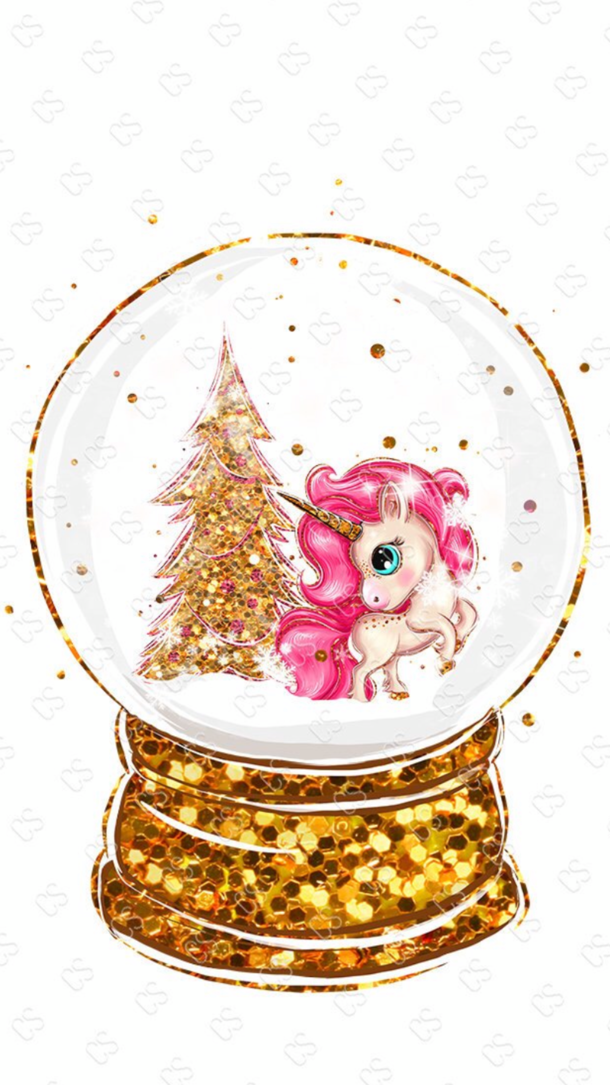 Wallpaper By Artist Unknown Cute Christmas Wallpaper Unicorn Wallpaper Pretty Wallpapers