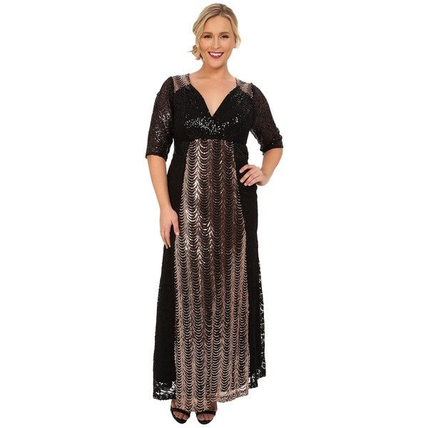 Kiyonna Grand Gatsby Gown Womens Dress 258 Liked On Polyvore