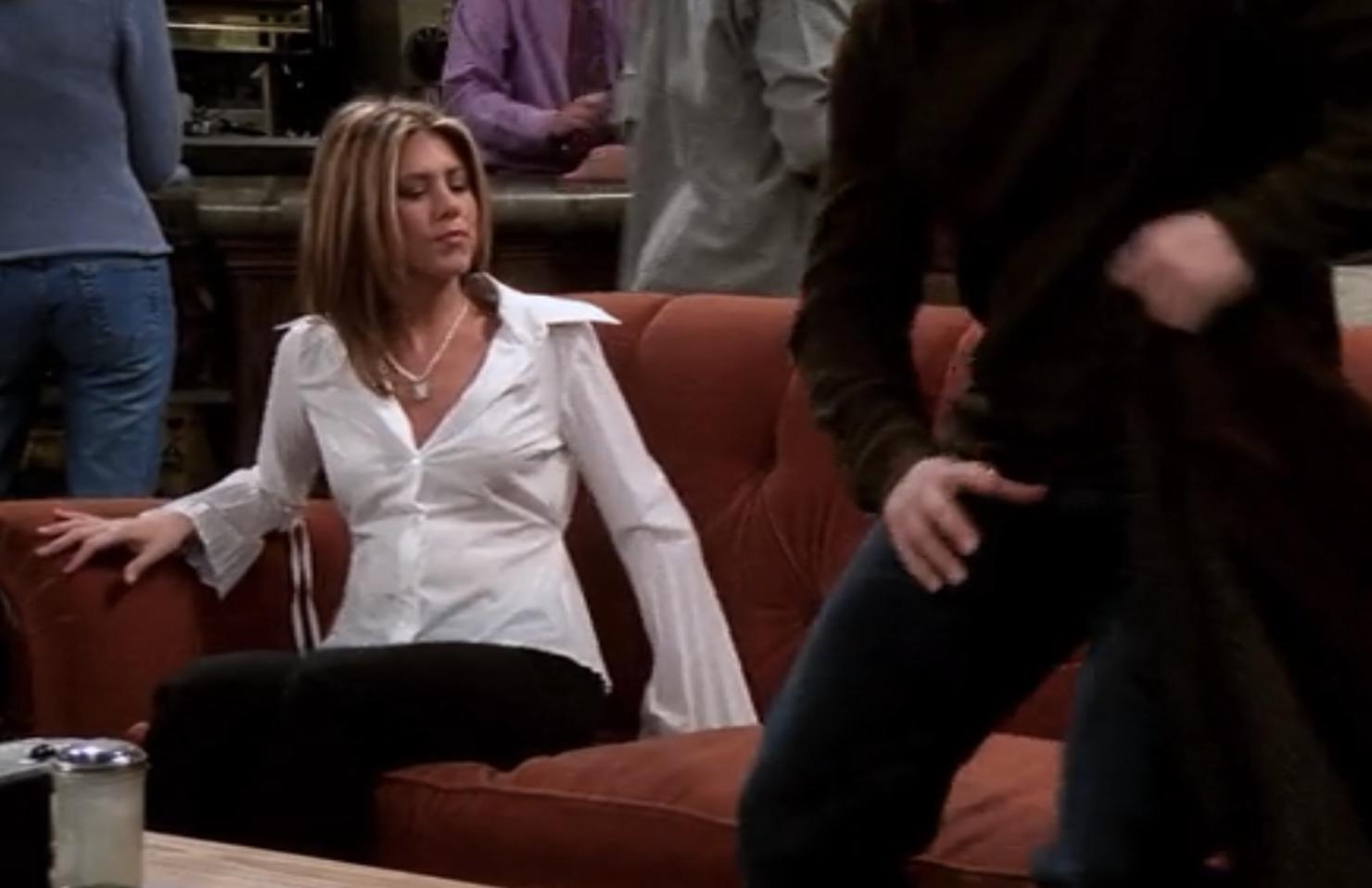 Every Outfit Rachel Wore On Friends Season 8 Rachel Green Outfits Rachel Friends Rachel Friends Hair [ 958 x 1480 Pixel ]