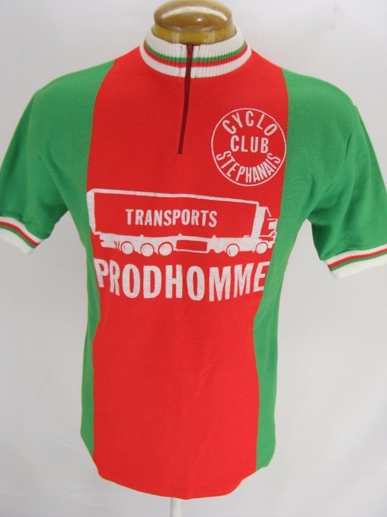 979719263 Mens Vintage Prodhomme Stephanais Tricots Du Rocher Cycling Bike Jersey  Shirt L