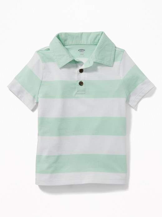 543cec57 Bold-Stripe Jersey Polo for Toddler Boys #collar#button#Imported ...