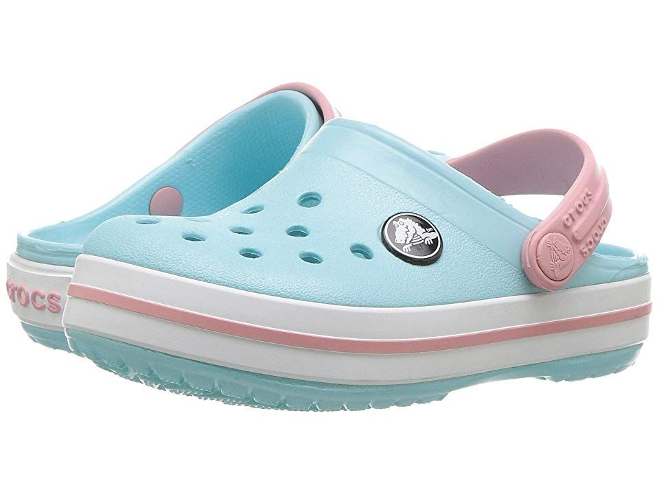eaa652faee Crocs Kids Crocband Clog (Toddler/Little Kid) Kids Shoes Ice Blue/White