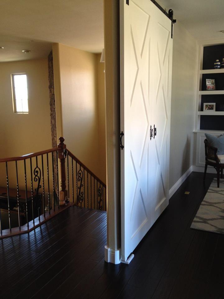 Open Barn Door this barn door is perfect for large, open areas, lofts or even