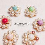 プリンセスパールのお花イヤリング