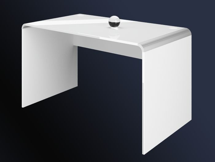DESK 100 WHITE HIGH GLOSS This exclusive and modern desk was made of MDF  17mm covered. DESK 100 WHITE HIGH GLOSS This exclusive and modern desk was made