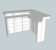 Zelf een hoekbar maken van steigerhout gratis doe het zelf bouwtekeningen voor barkrukken - Een hoek thuis ...